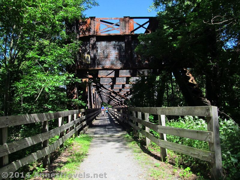 Old Trestle at the junction of the Genesee Valley Greenway and Lehigh Valley Trail