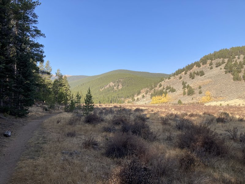 Closer to the Guanella Pass side of the route going back west.