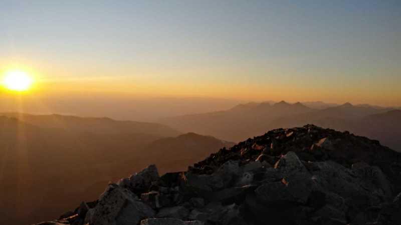 Sunset on Mt. Yale. 10-4-20