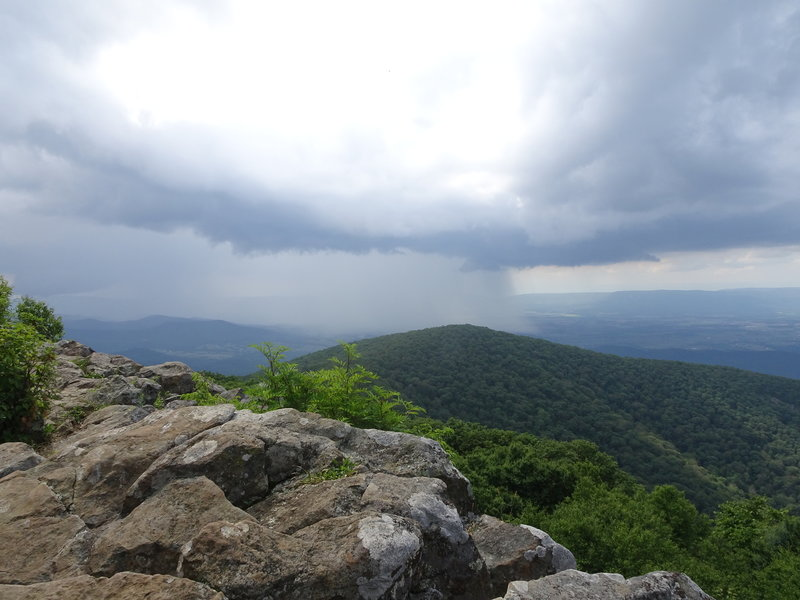 Hawksbille summit view.