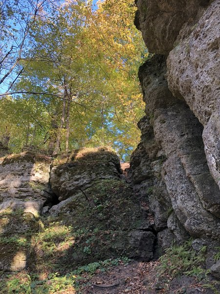 Bluffs along trail