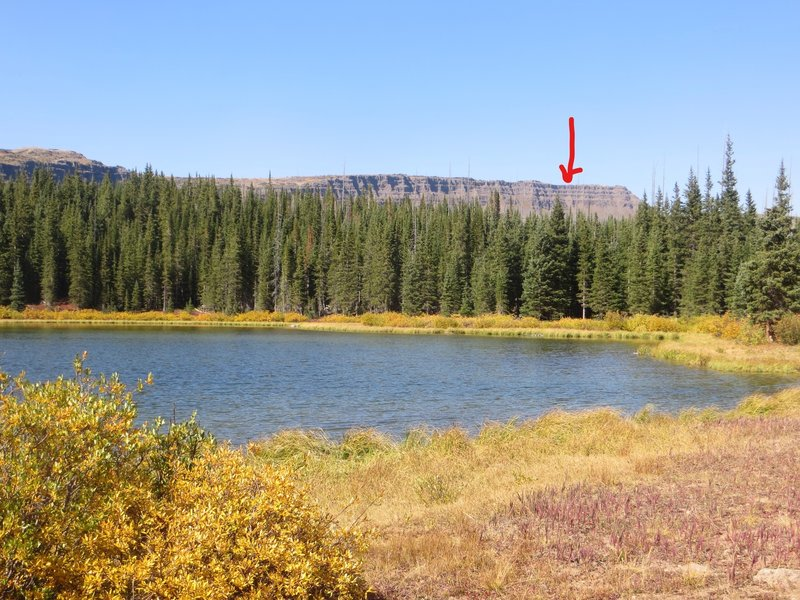 The Devil's Causeway from Mosquito Lake, on the Bear River Trail.