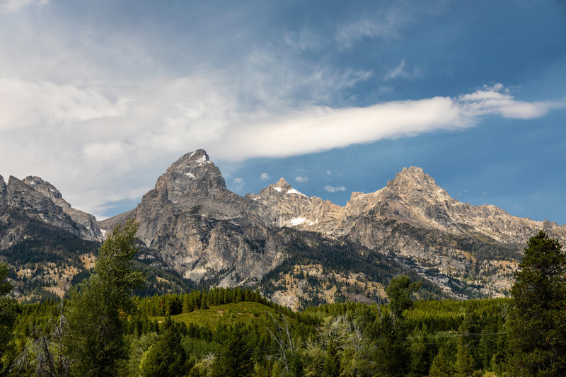Disappointment Peak, Grant Teton, Teewinot Mountain (from left to right).