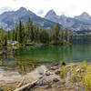 Taggart Lake with Nez Perce, Disappointment Peak, and Teewinot Mountain.