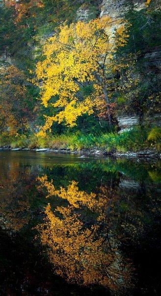 Beautiful autumn reflections.