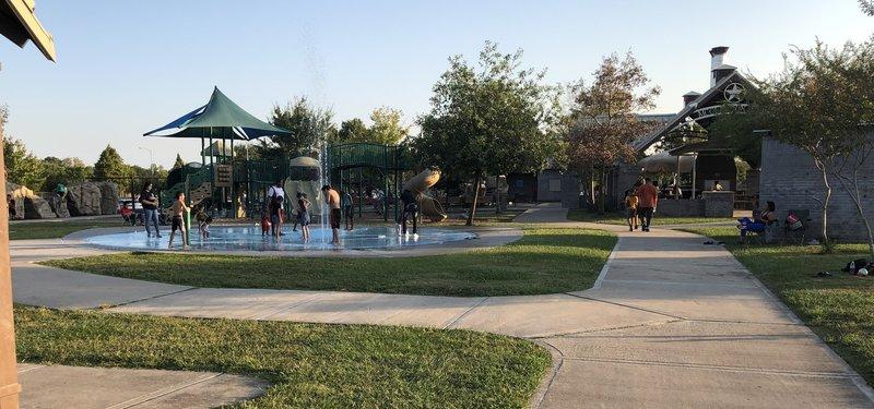 Splash pad at playground complex at McClendon Park.