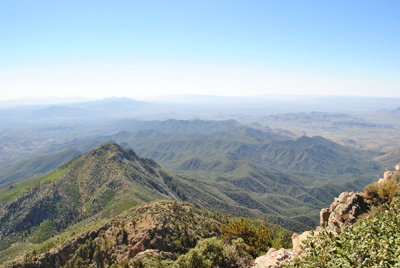 Looking south almost to top of Mt. Wrightson.