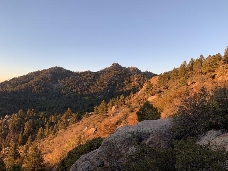 Hualapai Peak at sunrise.
