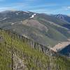 Views of Keystone ski area from the Wide Open trail
