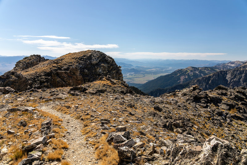 Jackson Hole from the highest point on the trail across Static Peak.