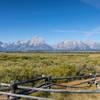 Teton Range from Cunningham Cabin Historic Site.