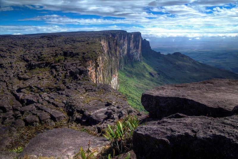 "The highest point at Mount Roraima ""Monte Roraima, ponto mais alto.jpg"" by Tinhojv is licensed under CC BY-SA 4.0"