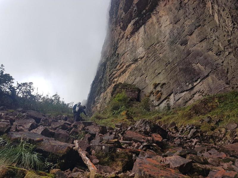 Looking up the steep Paso de las Lagrimas (Way of Tears).