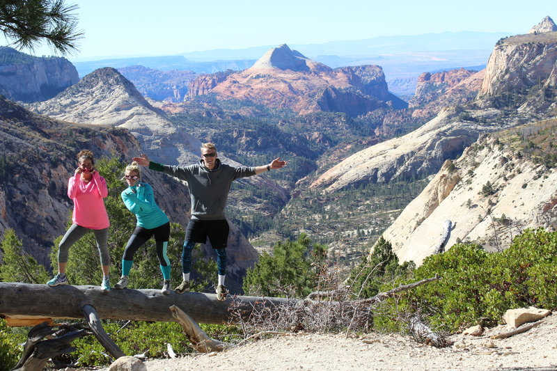 Stunning scenery at  West Rim Trail on our way to Angels Landing in Zion National Park.
