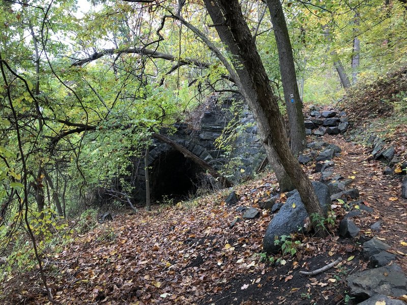 The stone-arch tunnel.