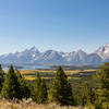Jackson Lake and the Teton Range from Grand View Point.