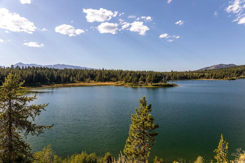 Emma Matilda Lake from its southern shore.
