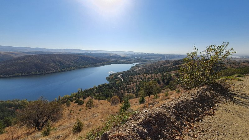 Fantastic view to Lake Eymir from on Nefes Nefese İniş Rotası (trail).