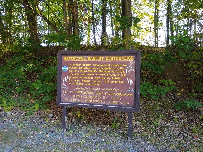 Waterfowl Habit information sign