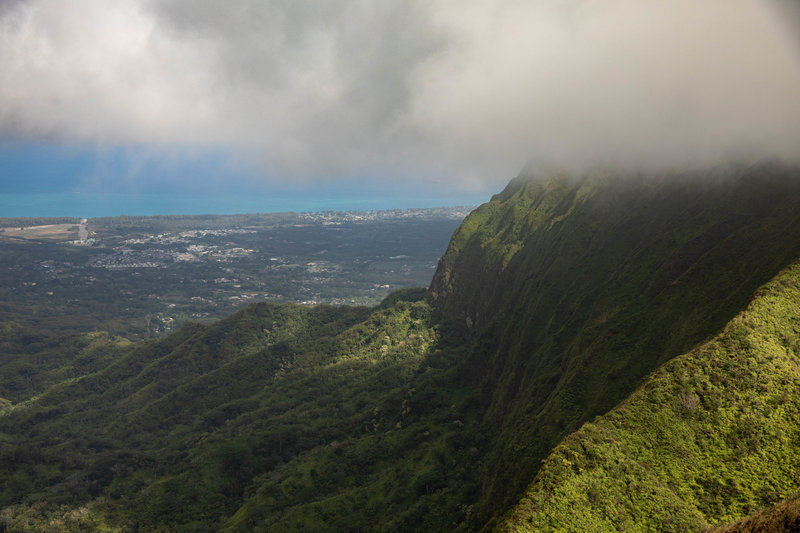 View from the top of Mt. Olympus overlooking Waimanalo.