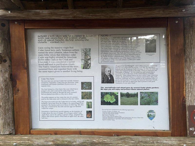 Trailhead Information Sign