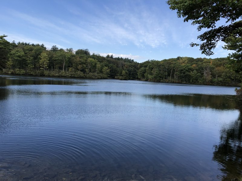 Huntington Pond as viewed from the Red Trail