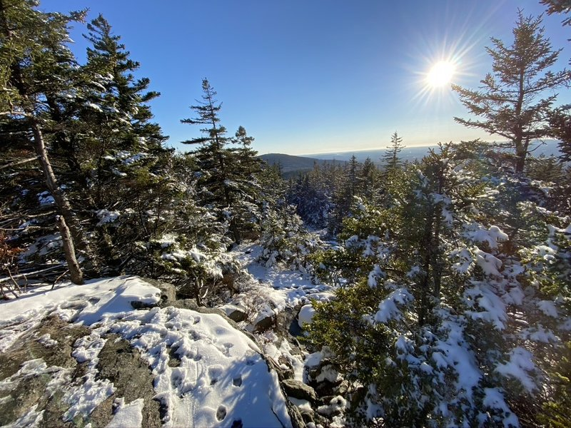 View from North Pack Monadnock summit.