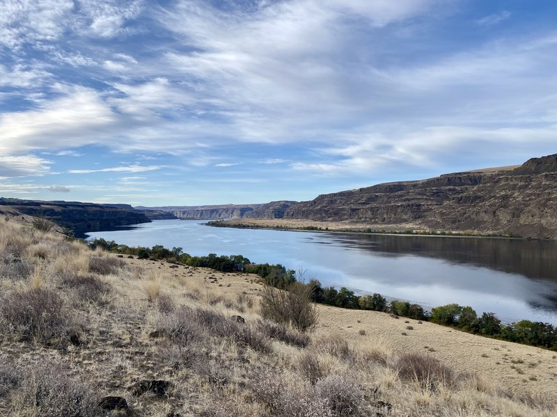 Great views of the Columbia River.