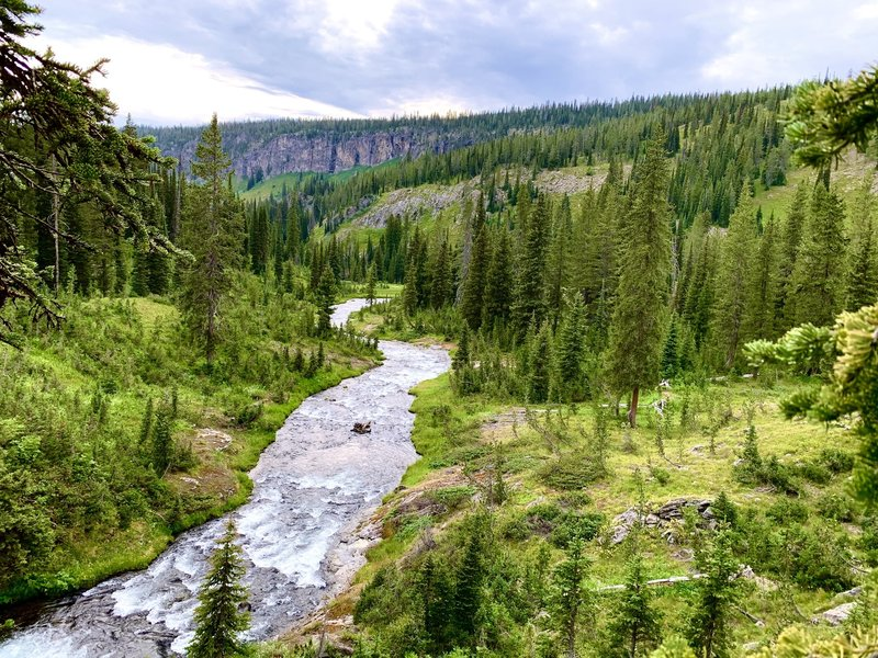 The Ferris Fork of the Bechler River just before in joins the Gregg Fork and Phillips Fork in the Three River Junction area. Don't miss campsite 9D1 if you can help it.