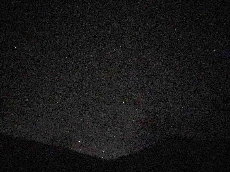 Dark skies above Loyalsock Creek.