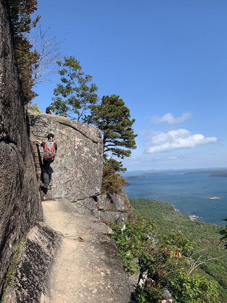 One of the final climbs of the Precipice Trail. This is not a trail for the faint of heart!