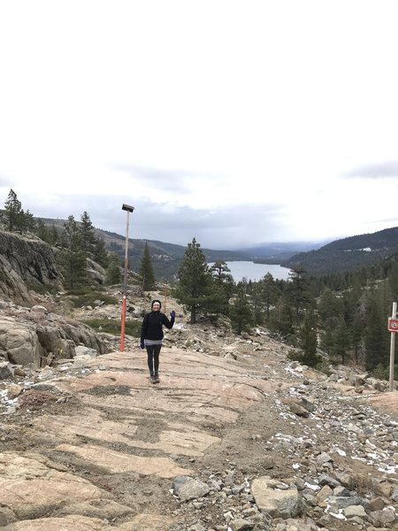 Donner Lake down below. This is near the later Lincoln Highway