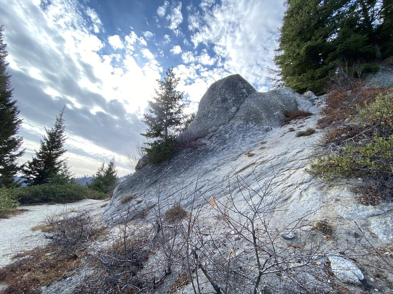 Some cool rock features on Mores Mountain Trail. Not a difficult trail..