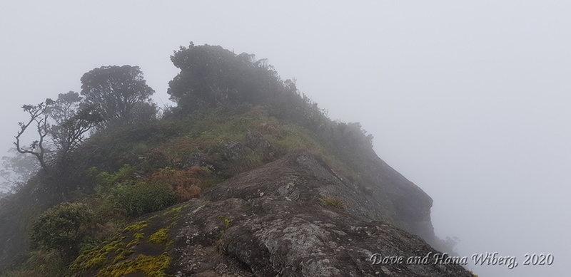 Steep ridge near the peak of Kirigalpoththa.