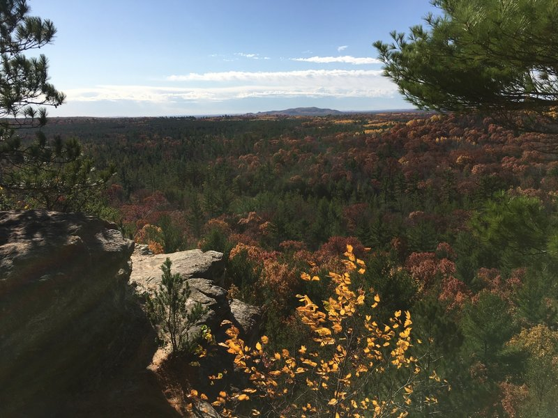 View from the top in mid-October.