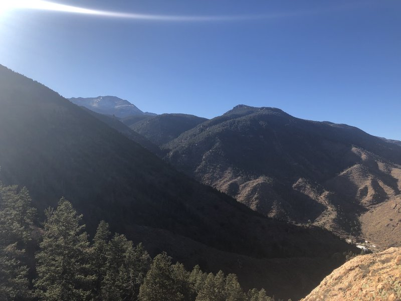 View of Pikes Peak from near the summit of Red Mountain.