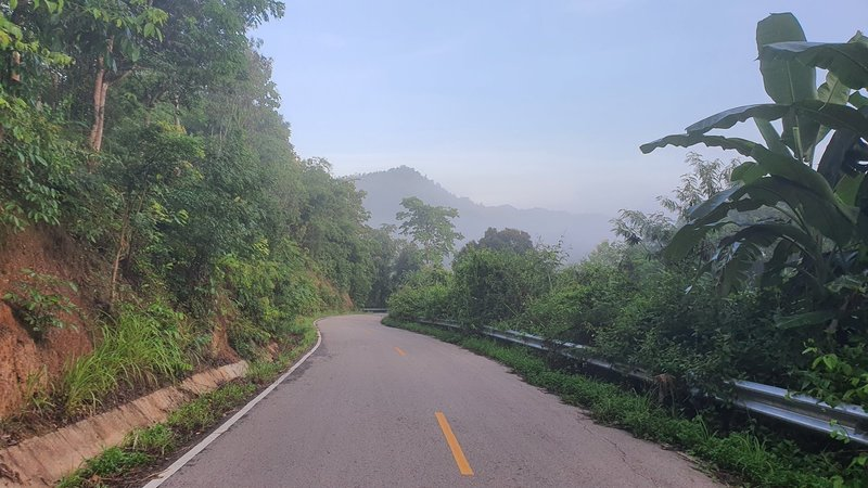 One of the road sections along the route.
