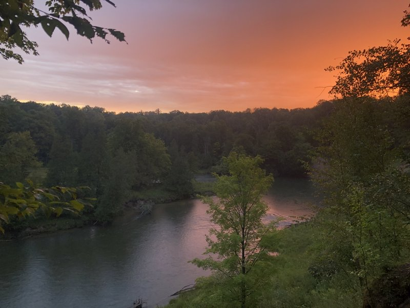 Sunrise over the Manistee River on Labor Day Weekend 2020