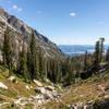Jackson Lake from Paintbrush Canyon.