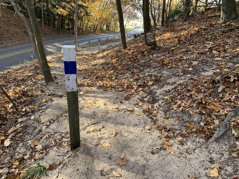 Well marked trail.