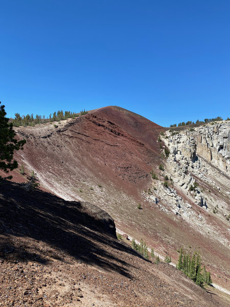 Cinder cone to the crest.