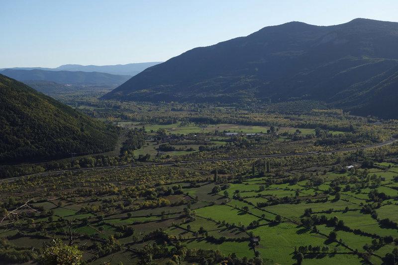 Verdant fields near Biescas