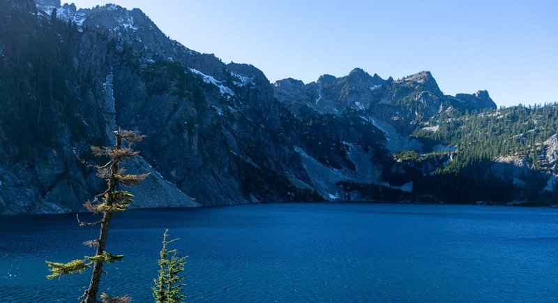On the shore of Snow Lake.