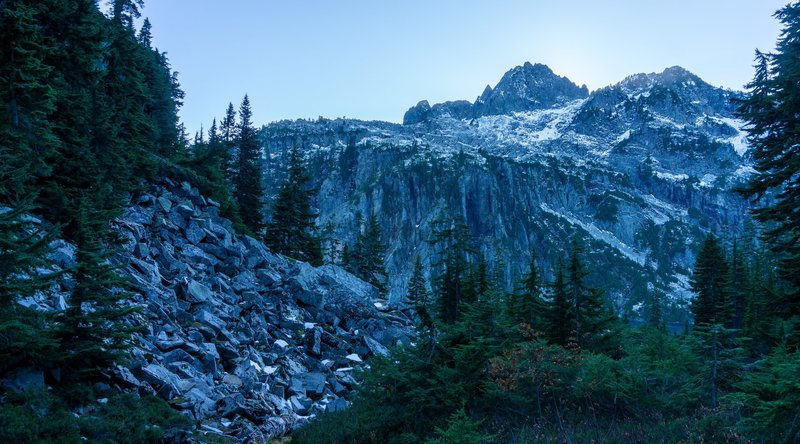 Chair Peak over the Gem Lake Trail