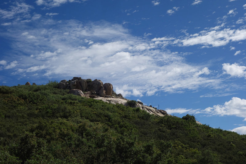 Oakzanita Peak under an interesting sky.