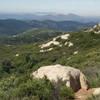 View southwest from near Oakzanita Peak.