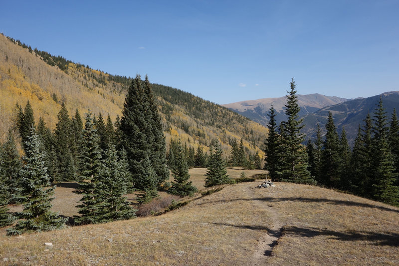 View in the direction of Taos Ski Resort from near the finish of the Gavilan Trail.