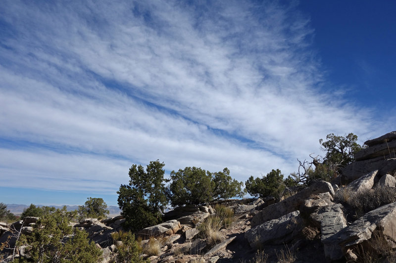 Streaky sky viewed from the Wedding Canyon Trail at Colorado NM.