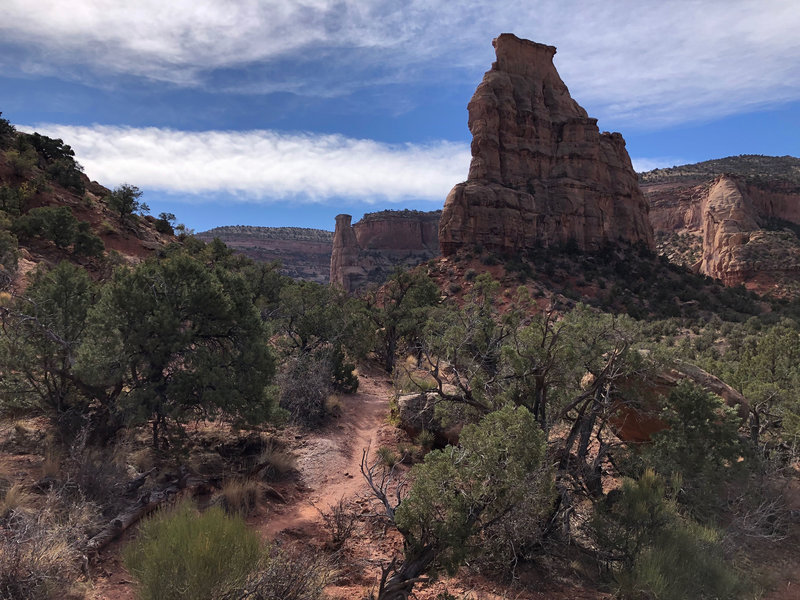 Approaching Independence Monument on the Wedding Canyon Trail