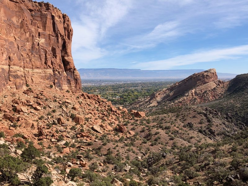 View east towards Redlands near the completion of the Wedding Canyon and Monument Valley loop